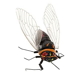 Blesiya Fake Simulated Insect Joke Toys Prank Toy Figure Halloween Party Supplies - Cicada