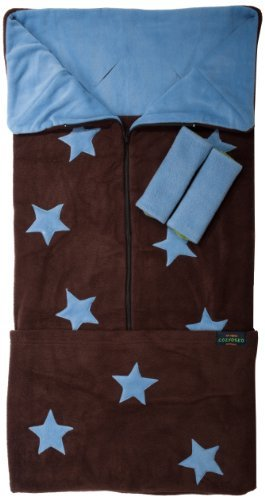 Cozyosko Cosytoes Multi-Function Footmuff with Jacaranda Blue Stars on Chocolate by Cozyosko by Cozyosko