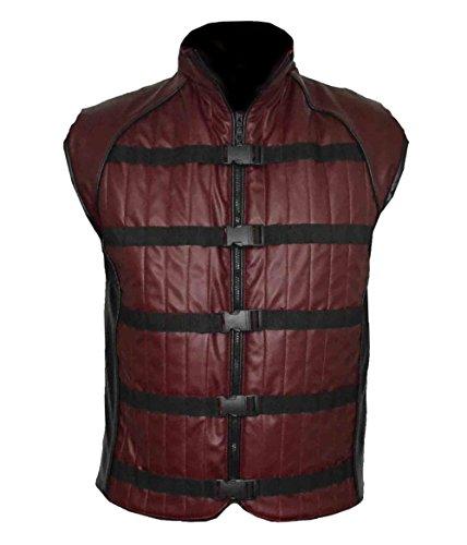MSHC John Farscape Burgundy Faux Leather Vest Crichton (2XL) TV Series (Girls Superhero Costumes Walmart)