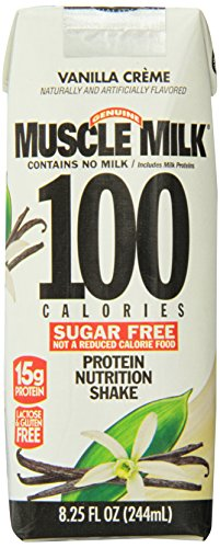 Cytosport Muscle Milk 100 Calories Ready-To-Drink Shake, Vanilla, 4 Count
