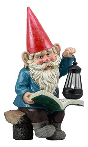 Ebros Whimsical Wizard Gnome Reading A Spell Book Statue 19