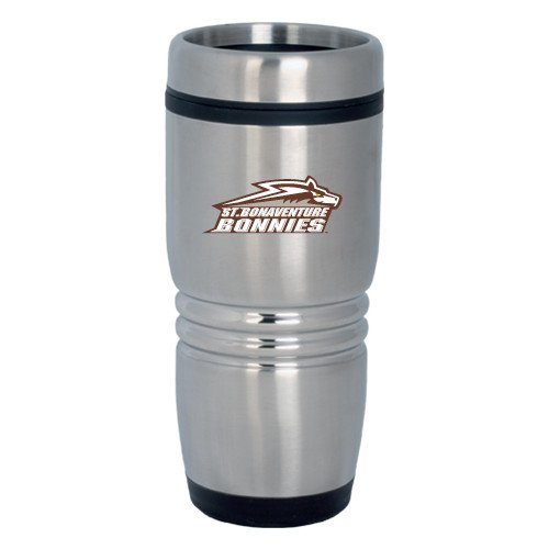 St Bonaventure Rolling Ridges Silver Stainless Tumbler 16oz 'Official Logo' by CollegeFanGear