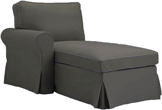 Amazon.com: El gris Ektorp Chaise con brazo de repuesto es ...