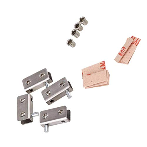 Rannb Stainless Steel Glass Door Pivot Hinge for Free Swinging Glass Door Used in 5-8mm Glass -Pack of 2 Pair