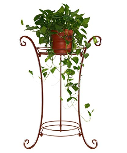 (AISHN Classic Tall Plant Stand Art Flower Pot Holder Rack Planter Supports Garden & Home Decorative Pots Containers Stand (Bronze))