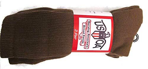 Men's Military Boot Socks COYOTE BROWN - 3 PAIR - MEDIUM