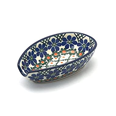 Polish Pottery Spoon Rest - Primrose