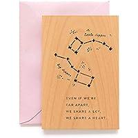 Big Dipper Laser Cut Wood Love Card (Valentine's Day / 5th Anniversary/Greeting Card)