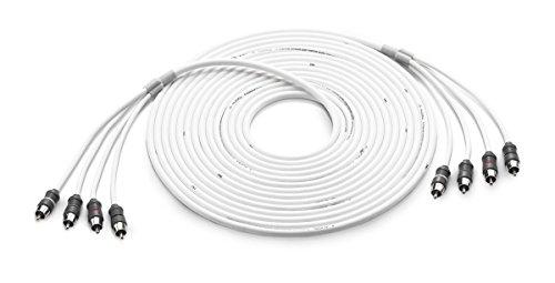 JL Audio® XMD-WHTAIC4-25 25 ft. (7.62 m) 4-Channel Marine RCA Audio Interconnect (4 Audio Interconnect Cable)
