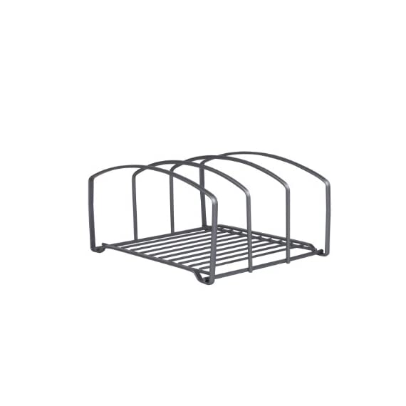 DecoBros Kitchen Houseware Organizer Pantry Rack, Silver 4 Fit for cutting boards & cookie sheets Elegant bronze coating Made by Sturdy Gauge Steel