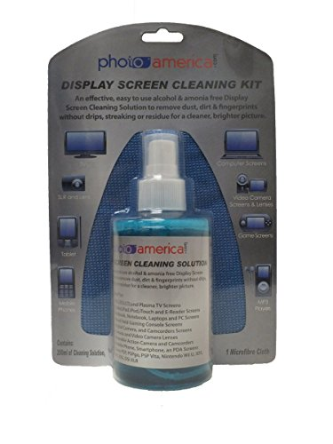 PhotoAmerica Alcohol & Ammonia Free Screen Cleaning Kit (Apple iPad, Apple iPad 2, iPod, iPod Touch, PSP, Nintendo 3DS, DS, DSi, DSi XLR, 3D TV, LCD, LED, Plasma TV Cleaner)