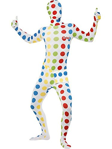 Smiffys Men's Twister Second Skin Suit, Size: M, Colour: Multi, 27019 -