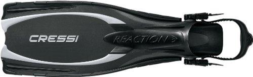 Cressi Geräteflossen Tauchen Flossen Reaction, grau-schwarz, M-L, BE105542
