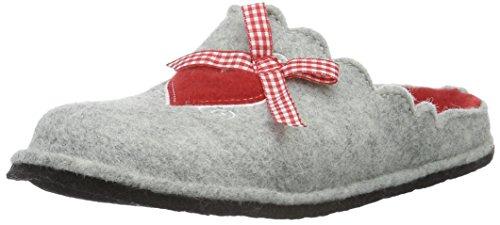 Softwaves Damen Hausschuh Pantoffeln Grau (200 GREY)