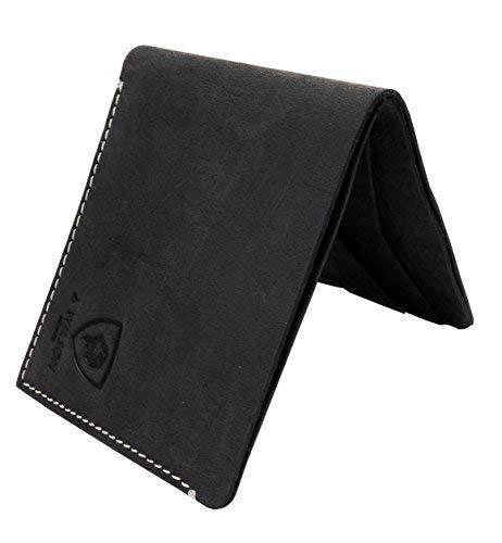J. Wilson London J Wilson London Real Leather Wallet Credit Carder Holder Bifold Slim Raw Oiled Hunter Purse With Gift Box Medium -