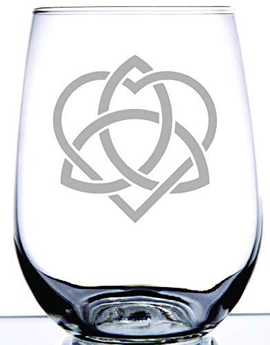 IE Laserware Celtic Sisterhood Knot etched on 17 ounce stemless wine glass. Any sister will love this reminder of you bond!