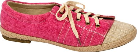 Muk Luks Womens Paige Tie Fashion Sneaker Rosa Solido