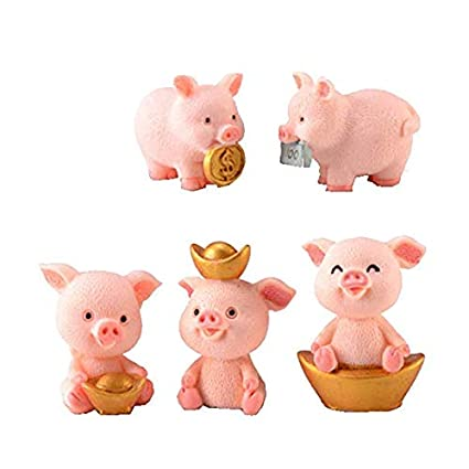 1pc Pig Cat Bear Dog Miniature Figurine Cartoon Piggy Figures Animal Models Pet Toy Diy Accessories Doll House Toy Decoration Fine Quality Action & Toy Figures
