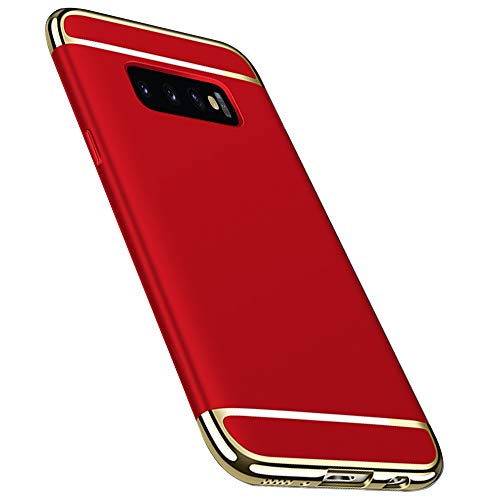 ATRAING Galaxy S10 Case, PC Hard Ultra Thin 3 in 1 Hybrid Hard Plastic Case Anti-Scratch Matte Finish Slim Fitfor Galaxy S10 (Red) - Case Hard Hybrid