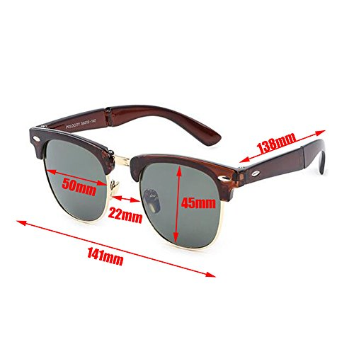 Femme Hzjundasi Classique et Anti de Homme Des lunettes Portable Plier Anti pour Mode UV Rtero Cadre C1 fatigue Lunettes de soleil soleil Charnière rU6qWr0p