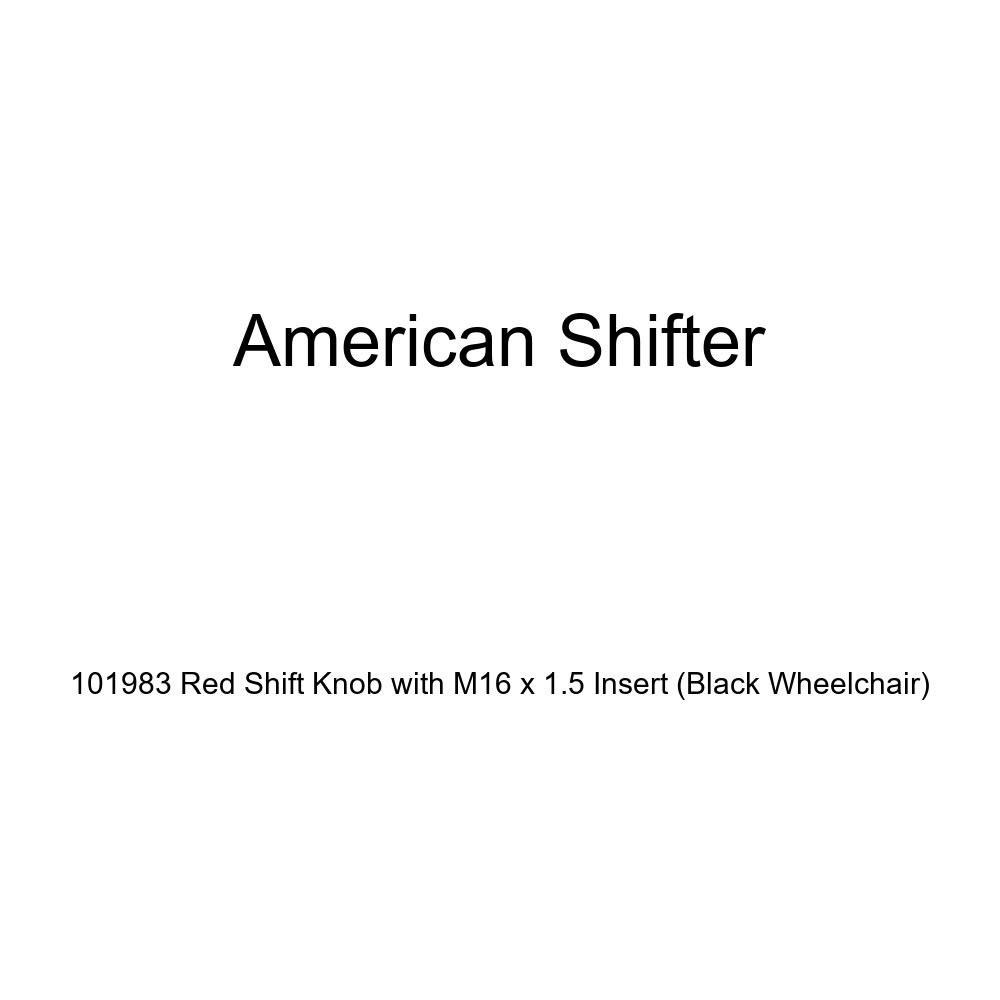 American Shifter 101983 Red Shift Knob with M16 x 1.5 Insert Black Wheelchair