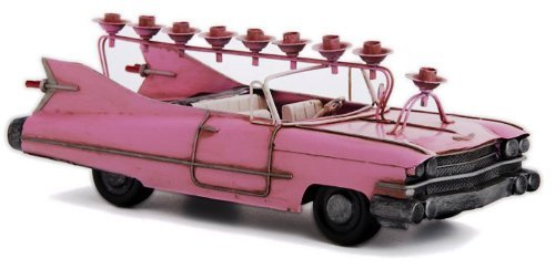 Menorah 1959 Pink Cadillac Convertible for Chanukah (Pink Menorah)