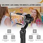 Smiledrive 3 Axis Gimbal Pro for Smartphone Handheld Stabilizer for Mobiles and Action GoPro Cameras-with Time Lapse Mode & Face Object Tracking - Black 6