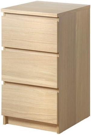 Cassettiera Ikea 3 Cassetti.Ikea Malm Cassettiera A 3 Cassetti In Legno Di Quercia 40 X 78 Cm Amazon It Casa E Cucina