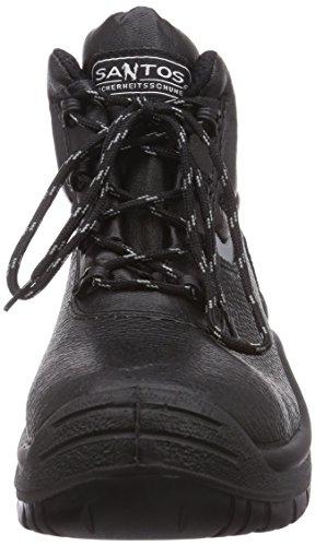 MTS Sicherheitsschuhe  Santos Base+ Rex S3 Flex ÜK 4415, Chaussures de sécurité mixte adulte, Noir (Schwarz), 41