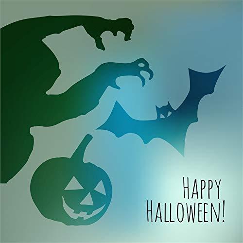 LFEEY 8x8ft Happy Halloween Background Decoration Ghost Bat Pumpkin Jack-O-Lantern Shadow Photography Backdrop Video Drape Wallpaper Hallowmas Party Photo Studio -