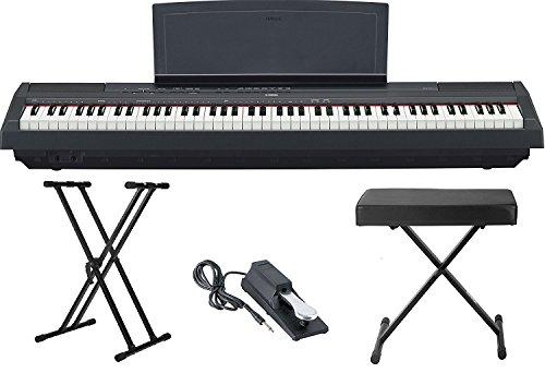 Yamaha p115 88 weighted key digital piano bundle with knox for Yamaha p115 piano