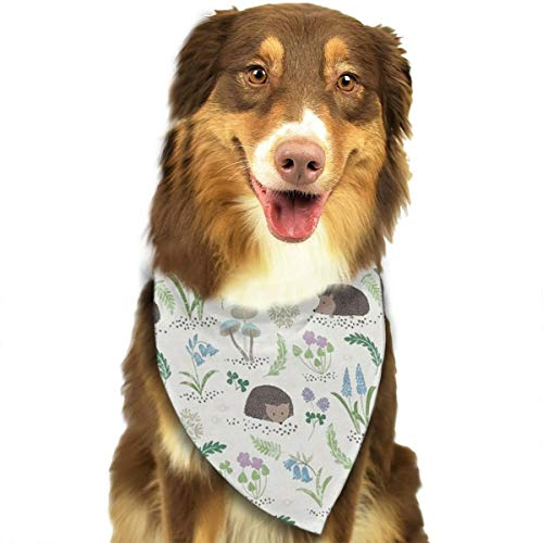 OURFASHION Cute Hedgehog Bandana Triangle Bibs Scarfs Accessories for Pet Cats and Puppies.Size is About 27.6x11.8 Inches (70x30cm). ()