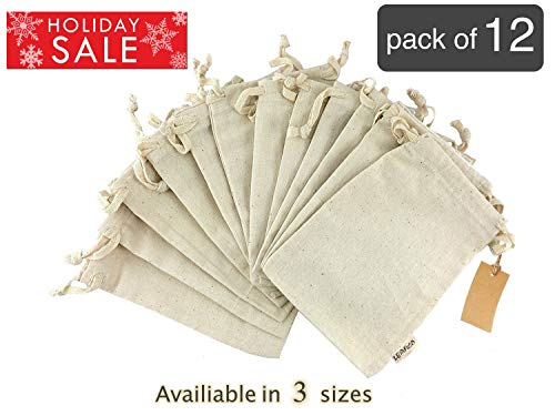 - Eco bags, Reusable Grocery Bags Multipurpose Muslin Bags With Drawstring | Large 10x12 Inches, Sachet Bags, Canvas Bags, Vegetable and Bread Bags, Fabric Produce Bags, Linen Bag, 12 Count Pack Leafico