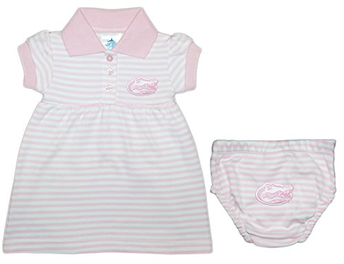 (University of Florida Gators Striped Game Day Dress with Bloomer Pink)