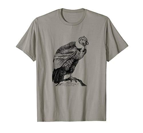 Mens California Condor Print T-Shirt Medium Slate -