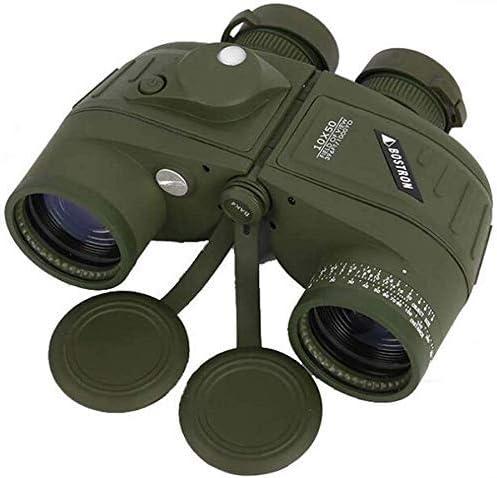 HIGHKAS Binoculares 10X50, con telémetros visión Nocturna y telescopios brújula, Impermeables a Prueba Golpes, Prisma, Regla telémetro autónoma