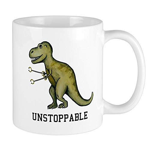 CafePress T-Rex Unstoppable Mugs Unique Coffee Mug, Coffee C