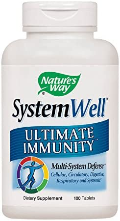 Nature s Way Systemwell Ultimate Immunity Multi-System Defense, 180 tablets