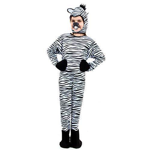 Fantasia Zebra Infantil Sulamericana Fantasias Preto/Branco M-4 Anos