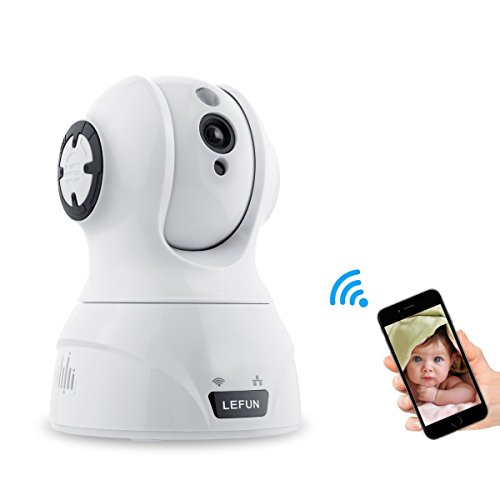 Baby Monitor LeFun 720p Pan/Tilt/Zoom Wireless Camera WiFi Surveillance IP Camera Nanny Cam with Motion Detect Night Vision Two Way Audio Video Recording for Home Security Cameras … (Nanny Cam Audio Video)