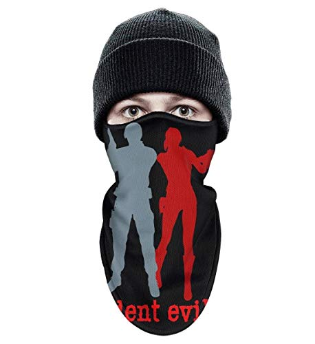 Unisex Winter Windproof Resident-Evil-2-Leon-and-Claire- Half Face Mask Motorcycle Full face mask -