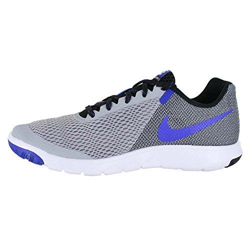 Nike Flex Experience RN 4 Laufschuh Wolf Grey / Racer Blau-schwarz-weiß
