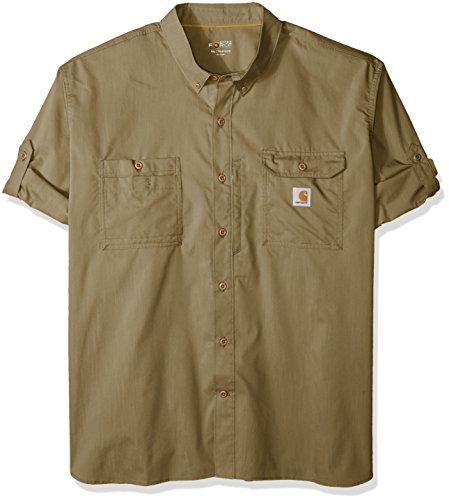 - Carhartt Men's Big and Tall Force Ridgefield Long Sleeve Shirt (Regular and Big & Tall Sizes), Burnt Olive, 4X-Large