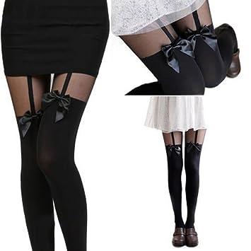 aspect esthétique la réputation d'abord profiter du prix le plus bas SEVE Sexy femmes bas Collant fantaisie bas Straps-bas bow-EW ...