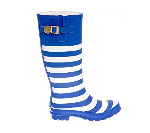 Rainboots Blu Reale E Bianco Iniziale N