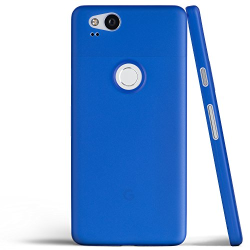 totallee Pixel 2 Case, Thinnest Cover Premium Ultra Thin Light Slim Minimal Anti-Scratch Protective - for Google Pixel 2 (Really Blue)