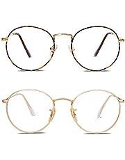 SOJOS Ronde Blauw Licht Blokkerende Bril voor Dames Blauw Lichtfilter Computerbril voor het Blokkeren SJ5024