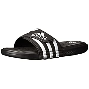 adidas Performance Men's adissage SC Sandal,Black/White/Black,9 M US