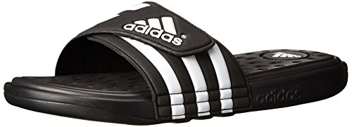 adidas Performance Men's adissage SC Sandal,Black/White/Black,10 M US