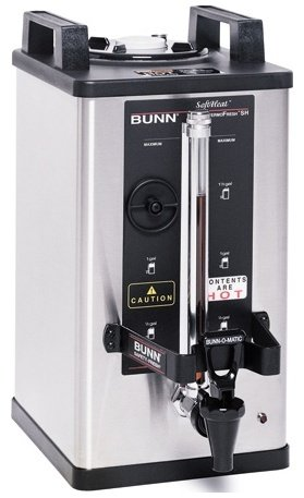 Bunn Commercial 1.5 Gal Soft Heat Server, Adjustable Timer, Stainless - 27850-0009 (Gallon Satellite Server 1.5)